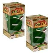 Green Clean Eco (Perfect Pod Eco-Fill - 2 Pack - Refillable Capsules for K-cup brewers)