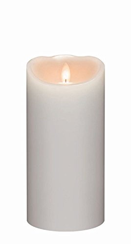 Candle Impressions 7'' Flameless Mirage Gold Pillar w/ Programmable Timer, White by Candle Impressions