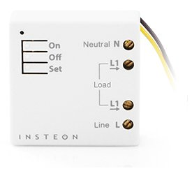 Insteon 2443-222 Micro On/Off Module, 2000 Watt - Use Insteon Hub with Alexa & Google Assistant