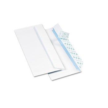 (Quality Park 69122 Redi-Strip Security Tinted Envelope, Size #10, White, 500/BX)
