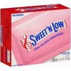 - Sweet 'N Low Granulated Sugar Substitute 100 Packets (2 Pack)