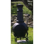 Outdoor Chimenea Fireplace - Gatsby in Charcoal Finish (Without Gas) by The Blue Rooster