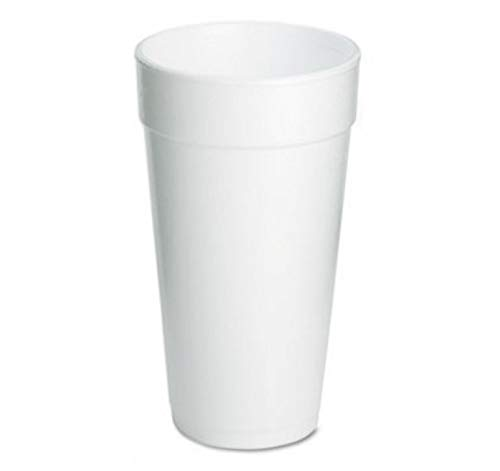 Styrofoam Cups, 20 oz, 500 CT, White, Sold as 1 Carton (20oz Styrofoam)