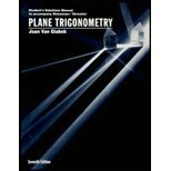 Solutions Manual to accompany Plane Trigonometry, Heineman, E. Richard and Tarwater, J. Dalton, 0070281882