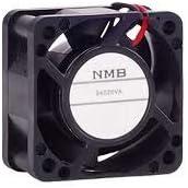 NMB TECHNOLOGIES 04020VA-24Q-CA-00 DC Fans DC Axial Fan Rib IP69K 24VDC Ball Bearing 12.4CFM 2-Wire 40x20mm
