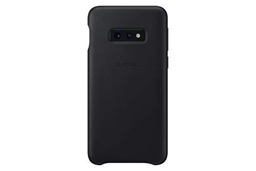 SAMSUNG Original Galaxy S10e Protective Leather Back Cover Case, Black