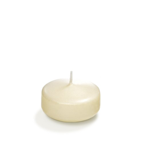 Yummi 3'' Ivory Pearlescent Floating Candles - 3 per pack by Yummi