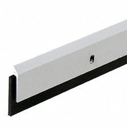 CRL Aluminum Finish 33N Series 1-1/2 Neoprene Sweep for 48'' Door Bottom by C.R. Laurence by C.R. Laurence
