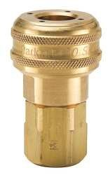 parker-hannifin-b33-series-30-brass-pneumatic-quick-coupler-female-pipe-thread-1-4-size-1-4-18-nptf-