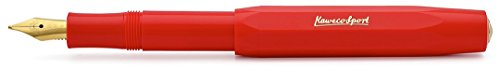 Kaweco Classic Sport Fountain Pen, Red, Medium - Fountain Octagonal