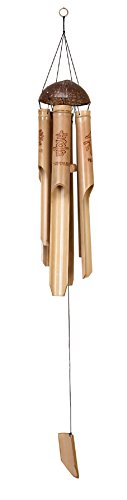 Bamboo Wind Chime | Carved Chinese Characters | Love, Happiness, Peace | 42