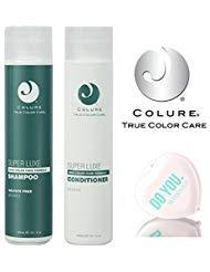 Colure True Color Care SUPER LUXE Shampoo & Conditioner DUO Set (with Sleek Compact Mirror), Zero Color Fade Formula (10.1 oz...