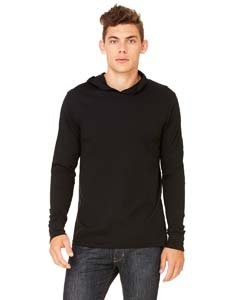 Bella Hooded Pullover (Canvas Unisex Unisex Driftwood Long Sleeve Hooded T-Shirt. 3512 - Black 3512 M)