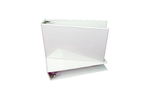 Clear Overlay White (Landscape Binder, White Vinyl 2 Inch  Ring Size, with Overlay Inserts.)