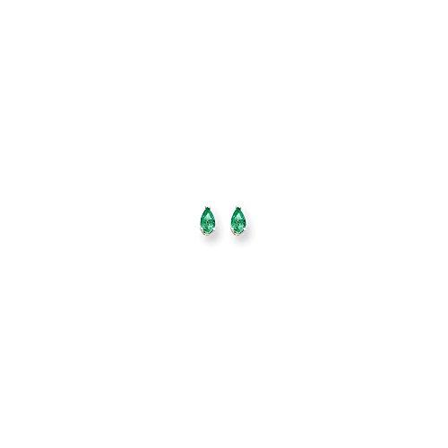 Best Birthday Gift 14k White Gold 5x3 Pear Earring Mountings