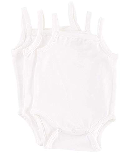 Camisole 12 Month Bodysuit Onsie in Natural Fiber Bamboo Fabric 3 Pack