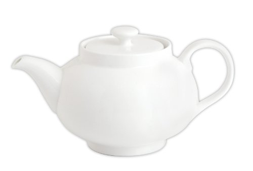 Quid 7104033 Kaffee- / Teekanne aus Porzellan, 0,8 l, Weiß