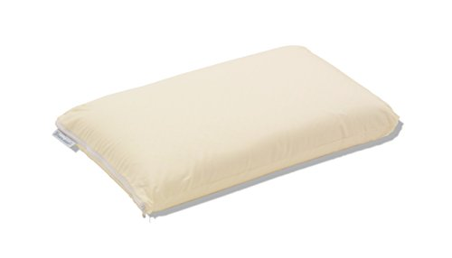 (Dreamsweet Premium Brazilian Natural Latex Classic Shape Pillow with 100% Percale Cotton Cover Queen/Standard Size)