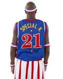 Harlem Globetrotters Special K Replica Jersey - Size: M - Blue (Harlem Globe Trotters Basketball)