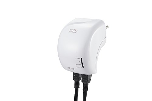 Supremery - AC750 Dual Band WLAN Repeater | 433 Mbit/s Wireless AC (5 GHz) + 300 Mbit/s Wireless N (2,4 GHz) | 3x Betriebsmodi (Repeater, Access Point, Router) | Wifi 2,4 GHz + 5 GHz | 802.11 a/b/g/n/ac | WPA2, WPA und WEP (128/64) | Reset + WPS-Taste