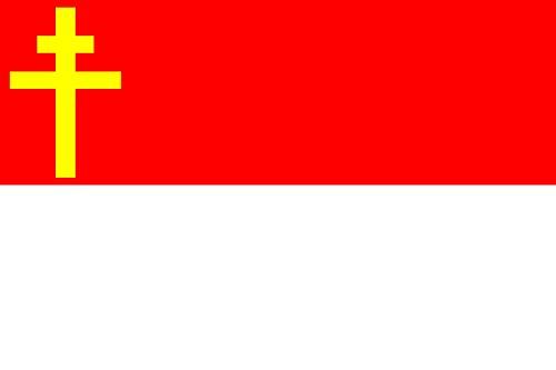 DIPLOMAT-FLAGS Alsace-Lorraine Flag   Landscape Flag   0.06m²   0.65sqft   20x30cm   8x12in Car Flag Poles ()