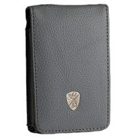Lamborghini Deluxe Fitted Leather Case for the 30 GB Ipod, Gray. - Leather Deluxe Ipod Case