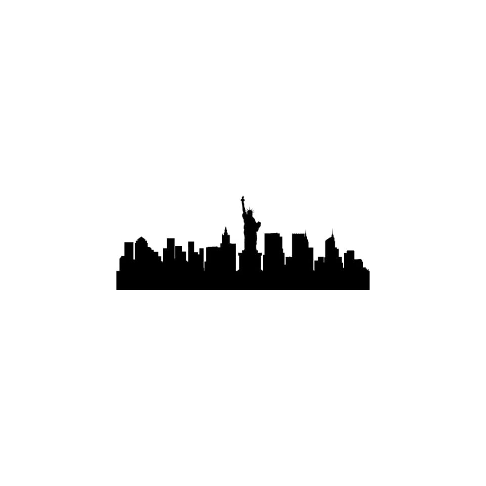 NEW YORK CITY SKYLINE BIG APPLE SILHOUETTE VINYL DECAL HOME DECOR LARGE SIZE 15