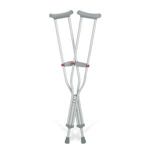 GU91214 - Guardian Red Dot Standard Adult Push-button Auxiliary Crutches 44 - 52 ()