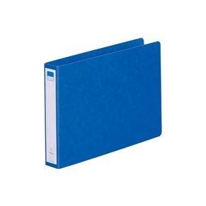 生活日用品 (業務用100セット) ツイストリング式ファイル 【B5/2穴】 ヨコ型 F832UN-5 藍 B074JVKDQP