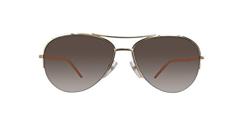 Marc Jacob Aviator Sunglasses - Marc Jacobs Marc61s Aviator Sunglasses, Gold/Brown
