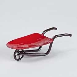 Mini Red Wheelbarrow - Miniature Fairy Garden Planter Decoration Accessories