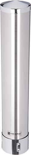 Adjustable Pull Type Cup Dispenser - San Jamar C3000PSS Stainless Steel Adjustable Pull Type Portion Cup Dispenser, Fits 1-3/4oz to 4-1/2oz Cup Size, 1-3/4