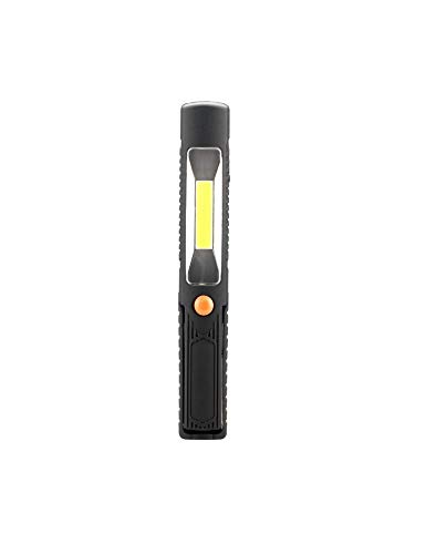 GS Tools 2 in 1 LED Pen Light, 3w COB Flashlight with Rotating Clip, Best Tool with Magnetic Base for Walking, Blackout, Home Using, Car - Pen Inch 2