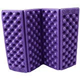 HS 1PC Foldable Folding EVA Foam Waterproof Chair Cushion Seat Pads Mat for Camping Hiking Sports Outdoor Activities (Purple)