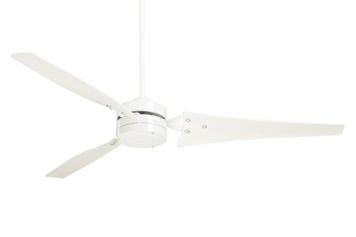 Emerson Ceiling Fans CF765WW Loft Modern Indoor/Outdoor Ceiling Fan With Wall Control, Energy Star, Damp Rated, 60-Inch Blades, Appliance White Finish by Emerson