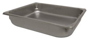 Winco SPJH-202 Steam Table Pan (Each), 12.75 Inch X 10.5 Inch X 2.5 Inch Silver