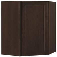 SJM Rsi Home Products Shaker Corner Wall Cabinet, Java, 36