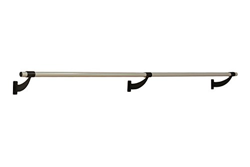 Vita Vibe Ballet Barre - WS120-P 10ft. Single Bar Collared Aluminum Fixed Height Wall Mount Ballet Bar - Stretch/Dance Bar - USA Made by Vita Vibe Wall Mount Ballet Barres