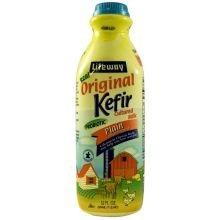 Lifeway Probiotic Original Cultured Plain Unsweetened Milk Kefir, 32 Ounce - 6 per case.