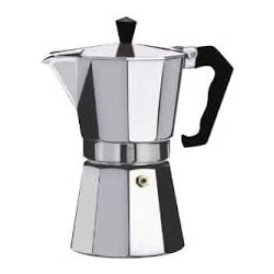 12 Cup Italian Style Espresso Coffee Maker for Use on Gas Electric and Ceramic Cooktops