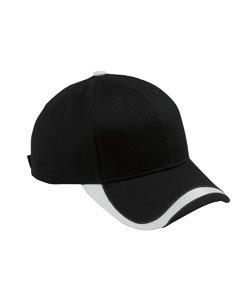 Accessories Bagedge Big (Big Accessories and BAGedge Sport Velcro Baseball Cap, black/white, One Size)