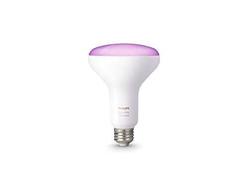 Philips Hue White and Color Ambiance 3rd Generation BR30 60W Equivalent Dimmable LED Smart Flood Light (Newest Model, Works with Alexa, Apple HomeKit, and Google Assistant)