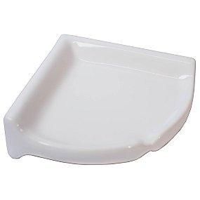Fired Earth Ceramics Corner Shelf Ice White