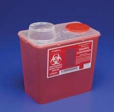 Top Red Sharps Container Chimney - KND Monoject Sharps Container Red 8 Qt Medium Chimney Top