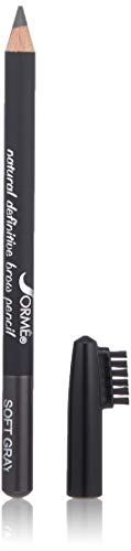(Sorme Cosmetics Waterproof Eyebrow Pencil, Soft Gray, 0.04 Ounce)