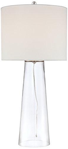 Tapered Column Table Lamp (Marcus Clear Glass Tapered Column Table Lamp)