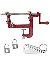 Victorio Johnny Apple Peeler with Clamp Base VKP1011 w/ Coring & Slicing Blade and Peeling Knives by Victorio