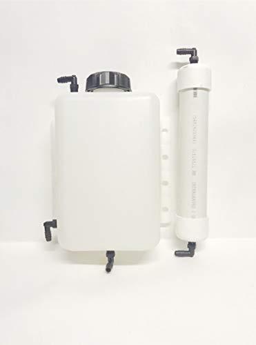 HHO Dry Cell Kit Bubbler Tank 4 Quart Super High Capacity Reservoir and Vaporizer (Best Electrolyte For Hho Generator)