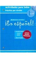 ¡En español!: Actividades para todos (Workbook) with Lesson Review Bookmarks Level 1 (Spanish Edition) [MCDOUGAL LITTEL] (Tapa Blanda)