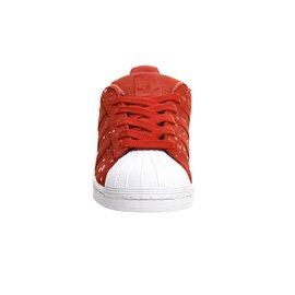 adidas Originals Superstar, Sneakers Basses Femmes rouge/blanc